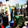 """Kieran Schmidt, 3, of Louisville, pulls another sword out of the basket while sword fight playing on Saturday, May 28, during the Boulder Creek Festival in Boulder. For more photos of the festival go to  <a href=""""http://www.dailycamera.com"""">http://www.dailycamera.com</a><br /> Jeremy Papasso/ Camera"""