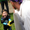 """Kieran Schmidt, 3, of Louisville, sword fights with John Scheuerman, of Boulder, on Saturday, May 28, during the Boulder Creek Festival in Boulder. For more photos of the festival go to  <a href=""""http://www.dailycamera.com"""">http://www.dailycamera.com</a><br /> Jeremy Papasso/ Camera"""