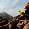 Firefighters from the City of Boulder Fire Dept. report weather conditions to the command post on Friday, Oct. 29, during the Boulder Dome Fire.<br /> Jeremy Papasso/ Camera