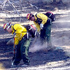 Firefighters concentrate on putting out  smoking hot spots as crews continue working on cleaning up the Dome Fire in Boulder Colorado on Saturday October 30, 2010. <br /> Photo by Paul Aiken / The Camera