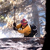 A firefighter concentrates on a smoking hot spot as crews continue working on cleaning up the Dome Fire in Boulder Colorado on Saturday October 30, 2010. <br /> Photo by Paul Aiken / The Camera