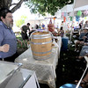 "Simcha Adelstein teaches wine making during the Jewish Festival on the Pearl Street Mall in Boulder, Colorado June 12, 2011.  CAMERA/Mark Leffingwell<br /> <br /> Watch video from the Jewish Festival at  <a href=""http://www.dailycamera.com"">http://www.dailycamera.com</a>"