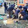 "Boulder Fire Rescue, EMS and the Boulder Police Department work to rescue a five-year-old boy from a hole that he fell into at 3025 Littleleaf Ln. in Boulder on Thursday, March 22. The boy was transported to Foothills Community Hospital. For a video and more photos of the scene go to  <a href=""http://www.dailycamera.com"">http://www.dailycamera.com</a><br /> Jeremy Papasso/ Camera"