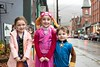 KELLY FLETCHER, REFORMER CORRESPONDENT -- (L-R) Ruby Cudworth, Erin Powers and Nathan Powers Trick-Or-Treat on Elliot Street during BrattleBOO