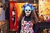 KELLY FLETCHER, REFORMER CORRESPONDENT -- Anella Montes de Oca trick-or-treats at Artrageous during BrattleBOO Halloween Festivities