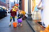 KELLY FLETCHER, REFORMER CORRESPONDENT -- Brentley Paradee and Layla Paquette trick or treat on Elliot Street during BrattleBOO Halloween Festivities Thursday night.
