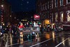 KELLY FLETCHER, REFORMER CORRESPONDENT -- The Horribles Parade marches up Main Street in light rain during BrattleBOO Halloween Festivities Thursday night.