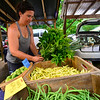 KRISTOPHER RADDER — BRATTLEBORO REFORMER<br /> Fresh fruits and vegetables are on display as the aroma of freshly-made food fills the air at the Brattleboro Farmers Market on Saturday, Aug. 3, 2019.