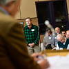 KRISTOPHER RADDER - BRATTLEBORO REFORMER<br /> Michael Hoffman addresses the board during Brattleboro's Town Meeting Day on Saturday, March 24, 2018.