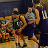KRISTOPHER RADDER - BRATTLEBORO REFORMER<br /> Brattleboro faced off against Leland & Gray during a unified basketball game on Monday, April 2, 2018.