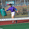Brattleboro's Martin Sipowiez plays against North Hampton's Stefan Johnson during a tennis match at Brattleboro Union High School on Thursday, April 5, 2018.