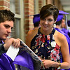 KRISTOPHER RADDER - BRATTLEBORO REFORMER<br /> Graduating seniors line up in the halls before the commencement ceremony at Brattleboro Union High School on Friday, June 16, 2017.
