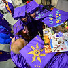 KRISTOPHER RADDER - BRATTLEBORO REFORMER<br /> A group of graduates huddles together before the commencement ceremony at Brattleboro Union High School on Friday, June 16, 2017.