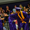 "KRISTOPHER RADDER - BRATTLEBORO REFORMER<br />  Jon ""Jack"" Spanierman bows to his fellow graduates as he walks to receive his diploma during the commencement ceremony at Brattleboro Union High School on Friday, June 16, 2017."