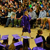 RISTOPHER RADDER - BRATTLEBORO REFORMER<br /> Theresa Underwood walks across the gymnasium to receive her diploma during the commencement ceremony at Brattleboro Union High School on Friday, June 16, 2017.