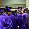 KRISTOPHER RADDER - BRATTLEBORO REFORMER<br /> Graduating senior Taylor Patno talks with fellow graduates before commencement at Brattleboro Union High School on Friday, June 16, 2017.