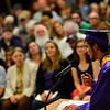 "KRISTOPHER RADDER - BRATTLEBORO REFORMER<br /> Class speaker Jon ""Jack"" Spanierman delivers his speech during the commencement ceremony at Brattleboro Union High School on Friday, June 16, 2017."