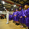 KRISTOPHER RADDER - BRATTLEBORO REFORMER<br /> Graduating seniors file into the gymnasium during the commencement ceremony at Brattleboro Union High School on Friday, June 16, 2017.