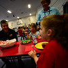 Brattleboro area first responders join kindergartners and first graders at Academy School for breakfast on Wednesday, April 25, 2018.