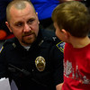 KRISTOPHER RADDER - BRATTLEBORO REFORMER<br /> Brattleboro area first responders join kindergarteners and first graders at Academy School for breakfast on Wednesday, April 25, 2018.