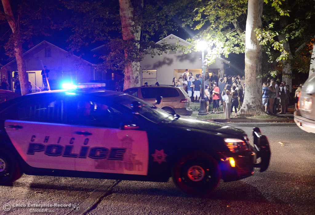 . Chico Police responded to large incidents in the south campus area Friday, August 23, 2013 in Chico, Calif.  (Jason Halley/Chico Enterprise-Record)