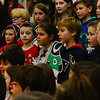 """KRISTOPHER RADDER — BRATTLEBORO REFORMER<br /> Children from Dummerston School rehearse """"Bring on the Snow"""" on Tuesday, Dec. 11, 2018. The concert is open to the public and will be held at the school's gymnasium on Wednesday at 6:30 p.m."""
