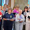 The soprano section, center, of the Broomfield Choral Festival Chorus sing during rehearsal of the Schubert Mass #6 in E flat at Holy Comforter Church.<br />  August 16, 2012<br /> staff photo/ David R. Jennings