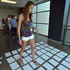 Freshman Katlyn Nowak tries to make her way through a puzzle during the Blue Crew freshman orientation at Broomfield High School on Wednesday. <br />  August 15, 2012<br /> staff photo/ David R. Jennings