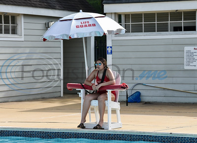 Lifeguard Alyssa Gonzales keeps a watchful eye while working opening day of the Buckner Park pool in Jacksonville on Tuesday, June 16.