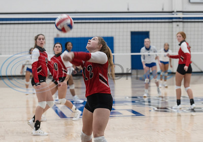 Bullard's Grace O'Bannon hit the ball in their volleyball game at Lindale High School on Tuesday, Sept. 29, 2020. No. 2 Lindale swept No. 14 Bullard (25-22, 25-21, 25-20).