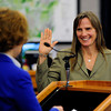 Elise Jones124.JPG Elise Jones is sworn in as a Boulder County Commissioner by  Chief Boulder County District judge Roxanne Balin at the Boulder County Courthouse in  Boulder after she was sworn in as a Boulder County Commissioner on Tuesday January 8, 2013<br /> Photo by Paul Aiken / The Daily Camera / January 8, 2013