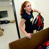 "Volunteer Coordinator Rachel Kincaid organizes backpacks full of  school supplies as part of the Crayons to Calculators drive in Boulder on Thursday July 19, 2011. For more photos and a video of the drive go to  <a href=""http://www.dailycamera.com"">http://www.dailycamera.com</a> <br /> Photo by Paul Aiken / The Camera"