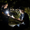 "University of Colorado police officer Emily Smyly, left, gives a minor in possession ticket to Kevin McClellan, 18, of Boulder, near Farrand Field during a patrol on Thursday, Sept. 6, on the CU campus in Boulder. For more photos and video of the CU police in action go to  <a href=""http://www.dailycamera.com"">http://www.dailycamera.com</a><br /> Jeremy Papasso/ Camera"