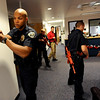 "Officer Daniel Diaz, left, works through a training scenario with instructors and other new officers.<br /> New University of Colorado police were trained in an ""active harmer"" scenario, similar to a Virginia Tech shooting situation.<br /> For a video of the CU Police training exercise, go to  <a href=""http://www.dailycamera.com"">http://www.dailycamera.com</a>.<br /> December 28, 2011 / Cliff Grassmick"