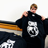 "Student Volunteer Coordinator Mary Rochelle prepares to give out official conference t-shirts during a Conference on World Affairs student volunteer training session on the CU Boulder Campus on Tuesday April 3, 2012.<br /> For more photos of the training session go to  <a href=""http://www.dailycamera.com"">http://www.dailycamera.com</a><br /> Photo by Paul Aiken / The Camera"