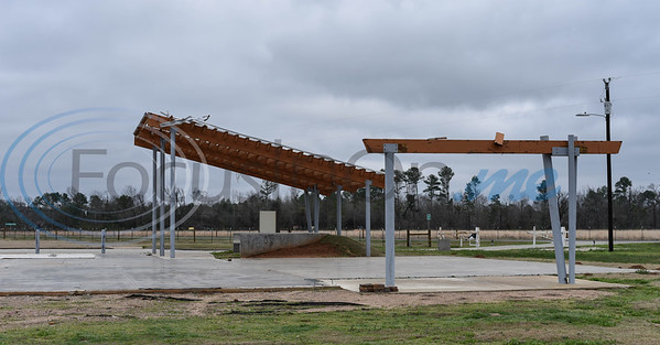 What remains of the Caddo Mounds state Historic Site Museum stands at the site in Alto on Saturday, January 11 when a re-opening ceremony was held. (Jessica T. Payne/Tyler Morning Telegraph)