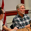KRISTOPHER RADDER - BRATTLEBORO REFORMER<br /> Davey Cadran, David Schoales, Brandie Starr and Tim Wessel participated in a candidate forum in the Municipal Building in Brattleboro on Thursday, Feb. 23, 2017.