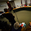 KRISTOPHER RADDER - BRATTLEBORO REFORMER<br /> Curtis Reed ask members running for select board a question during a candidate forum in the Municipal Building in Brattleboro on Thursday, Feb. 23, 2017.
