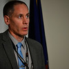 KRISTOPHER RADDER — BRATTLEBORO REFORMER<br /> Det. Lt. John-Paul Schmidt, from the Vermont State Police, talks to members of the media about updates of the homicide investigation.