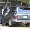 Boulder Police investigate the scene of car versus pedestrian accident on Wednesday, Oct. 3, in the parking lot of St. Aidan's Episcopal Church on 2425 Colorado Avenue in Boulder. The man who was hit by the car was eating lunch at a table when a woman crashed into a food truck and then the table where the man was sitting.<br /> Jeremy Papasso/ Camera