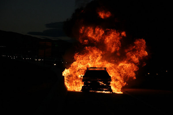 Car Fire March 2007
