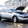 A car accident on Thursday  on the corner of Elm and East St. in Pittsfield. December 19th 2013 Holly Pelczynski/Berkshire Eagle Staff