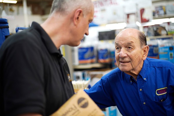 BEN GARVER — THE BERKSHIRE EAGLE<br /> Carr Hardware is celebrating its 90th anniversary in the same year that co-owner Marshall Raser celebrates his 90th birthday. Raser is still working the sales floor as he has since 1962.