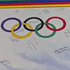 KRISTOPHER RADDER - BRATTLEBORO REFORMER<br /> A poster with the signatures of all the torch bearers of the 1980 Olympics.