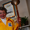 KRISTOPHER RADDER - BRATTLEBORO REFORMER<br /> Sally Fegley holds her torch that she ran with during the 1980 Olympic Games in Lake Placid.