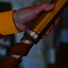 A torch that Sally Fegley used to help carry the Olympic flame to Lake Placid in 1980.