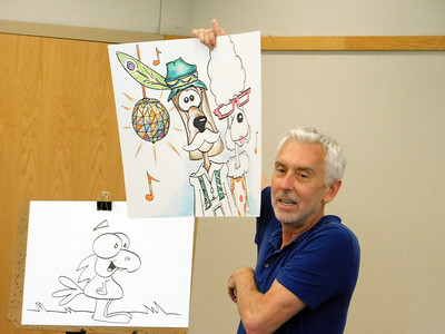 Cartoonist Jeff Nicholas offers class at Wadsworth library