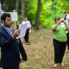 KRISTOPHER RADDER — BRATTLEBORO REFORMER<br /> The descendants of John Kathan gather at Kathan Cemetery, in Putney, to hold a ceremony for Charles Kathan before placing a new grave marker on Saturday, Aug. 10, 2019.
