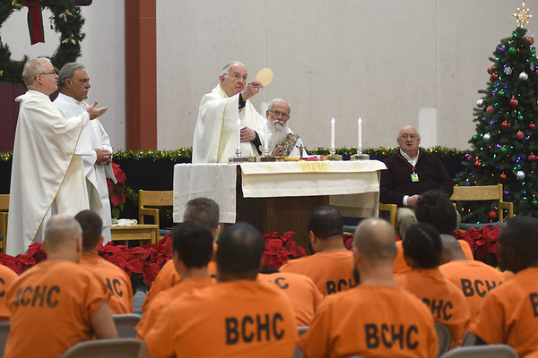 Christmas mass at jail