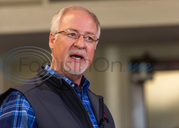 Mayor Martin Hines speaks on the new corona virus risks and precautions being taken in Smith County Thursday, March 12, 2020, in the State Room at City Hall in Tyler.